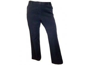 Tmavě modré pružné dámské kalhoty