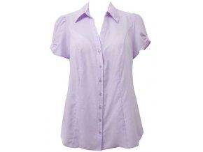 halenka - košile fialová krátký rukáv