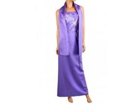 Fialové společenské dlouhé šaty
