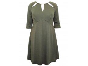 zelené šaty krátký rukáv