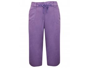 fialové šortky capri kalhoty