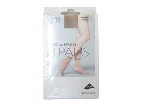 3pack dámské tělové silonové ponožky vel 37 až 41