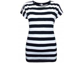 pruhované černo-bílé tričko
