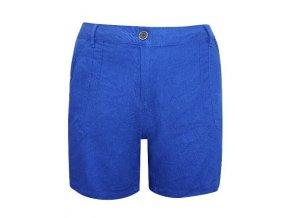 plátěné modré šortky kraťasy