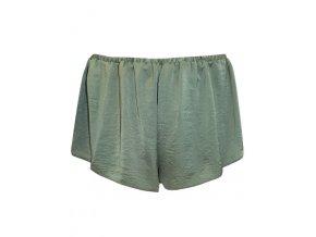 saténové zelené pyžamové šortky
