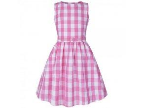 Dětské šaty Lindy Bop růžové Mini Audrey 134 až 140