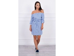 eng pm Dress with decorative buttons blue 12694 1