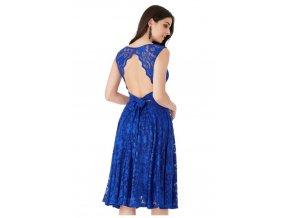 739f20650652 Krajkové plesové společenské šaty modré