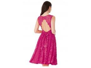 Krajkové plesové společenské šaty červené c5981de757