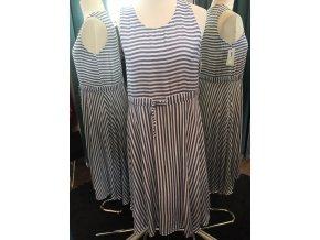 Dámské letní pruhované námořnické šaty velikost 42 až 44
