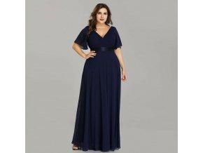 Dlouhé modré společenské plesové šaty Ever Pretty