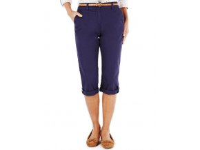 modré kalhoty capri