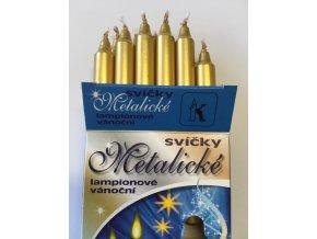 ZLATÉ metalické svíčky k Andělskému zvonění 12 ks