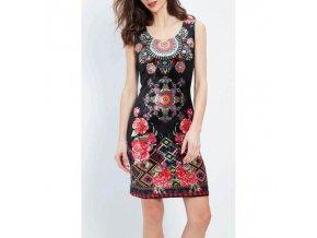 b2b sell dress tunic velvet ethnic floral plus size 101 idees 2009zl (2)