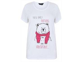 bílé tričko medvěd