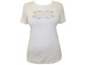bílé tričko s brotskou vlajkou