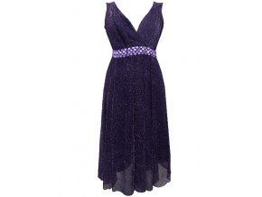 společenské fialové šaty