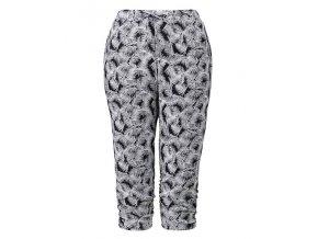 čerrno-bílé pohodlné 3/4ní capri kalhoty