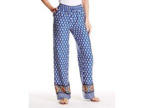 barevné modro-bílé etno kalhoty