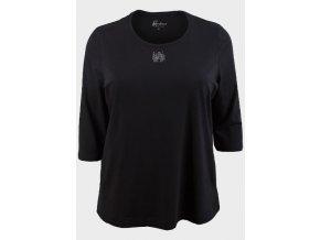 černé tričko stříbrné pecičky