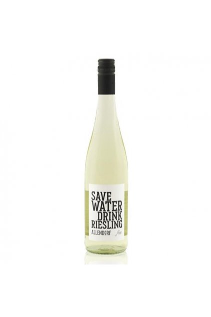 Save water drink Riesling non alkoholic