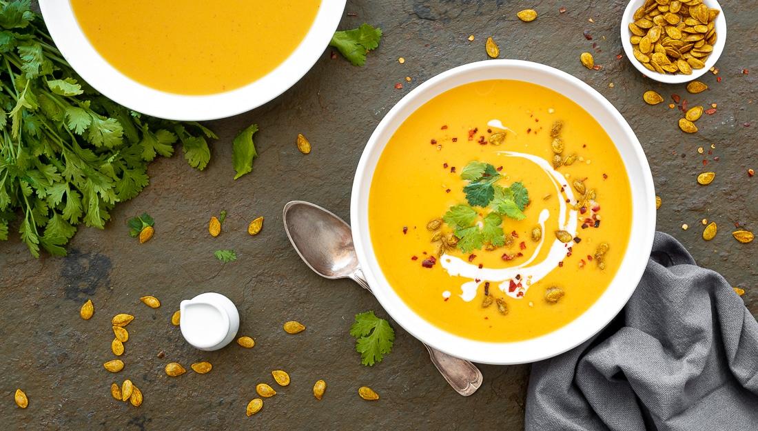 Podzimní dýňové menu: Polévka z dýně hokaido