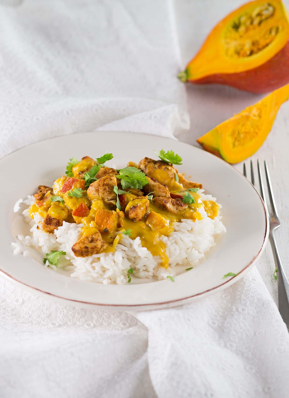 Podzimní dýňové menu: Dýňová pánev s rýží