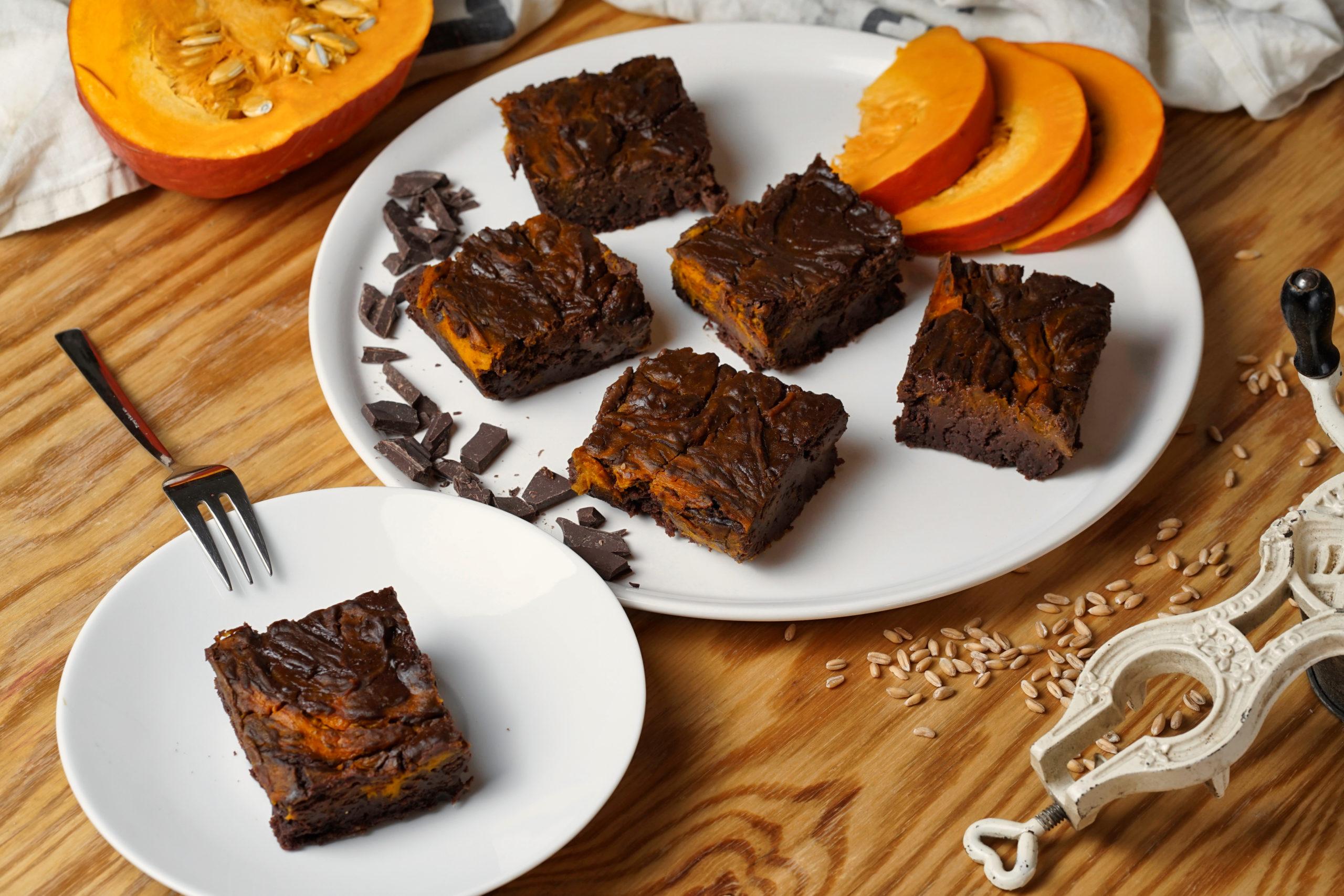 Podzimní dýňové menu: Dýňové brownies