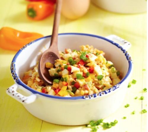 Vajíčkový salát a paprikou