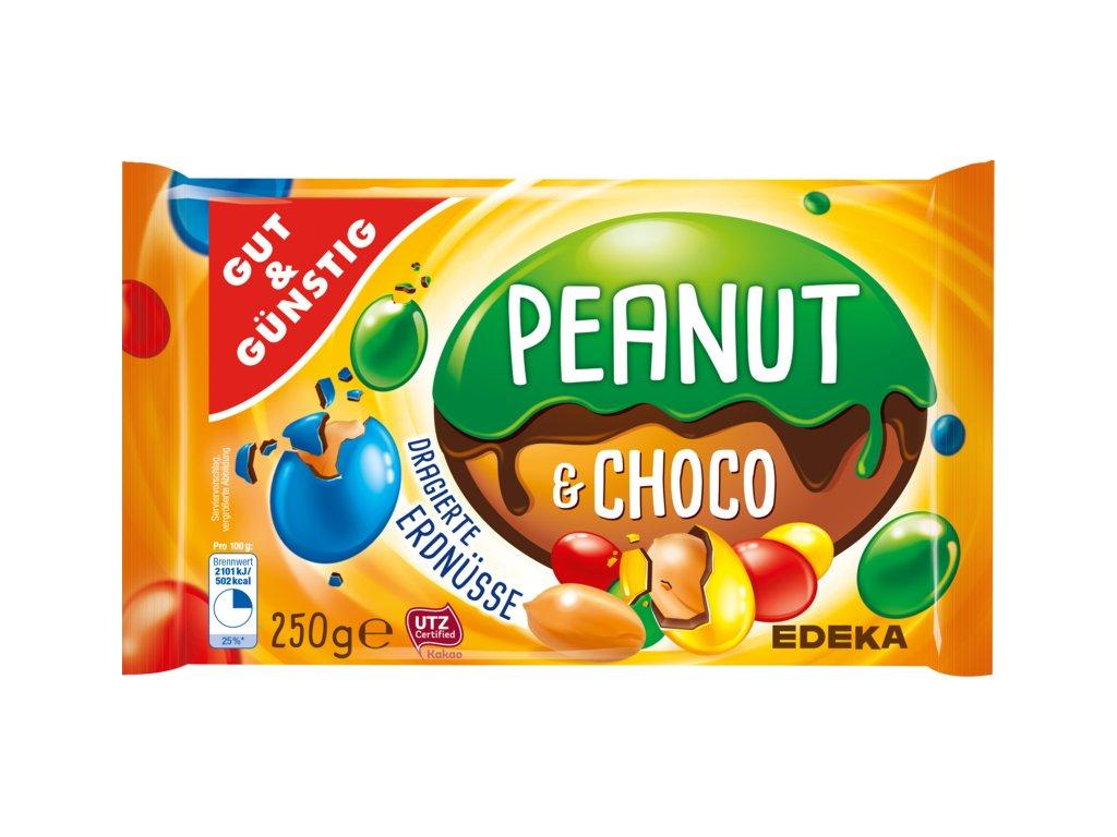 G&G Dražované arašídy v čokoládě barevné 250g