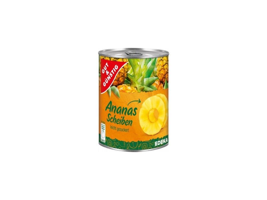 G&G Ananasové kousky, jemně slazené 580ml  - originál z Německa