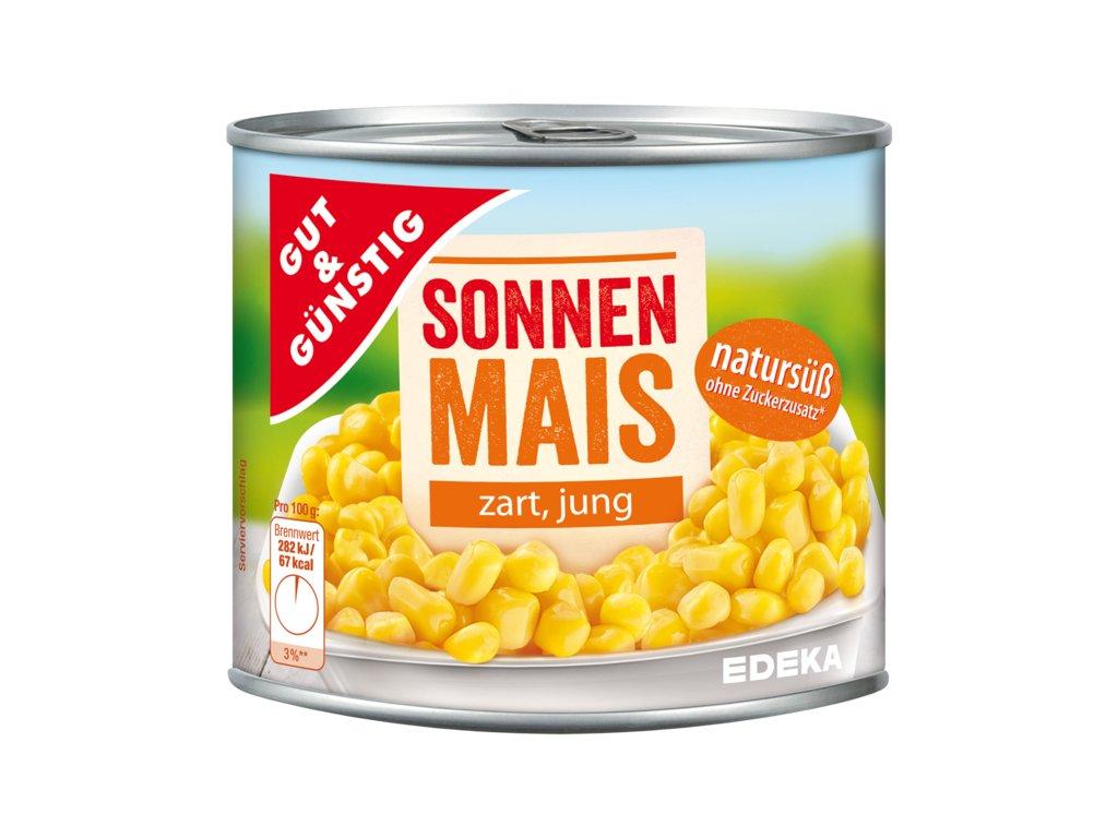 G&G Kukuřice slunná, přirozeně sladká 425ml  - originál z Německa