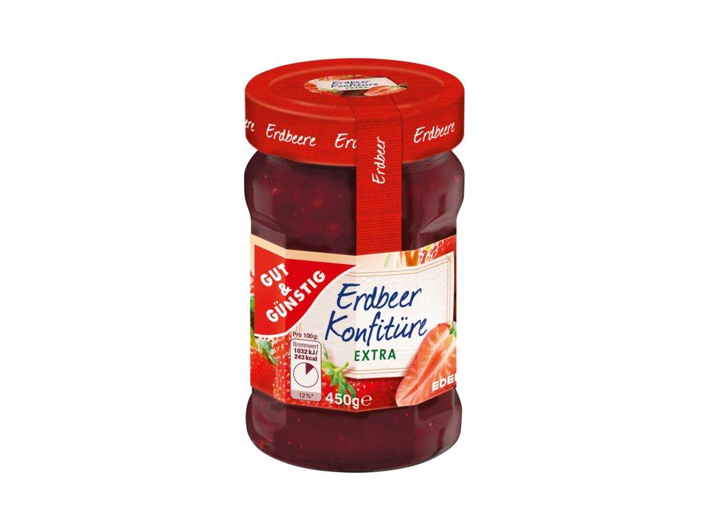 G&G Jahodový džem s 50% ovoce, 450g  - originál z Německa