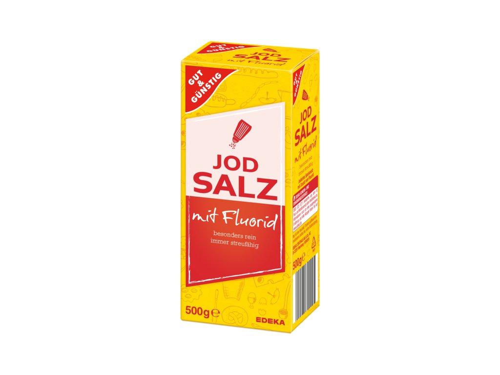 G&G Sůl jemná s jodem a fluoridem 500g  - originál z Německa