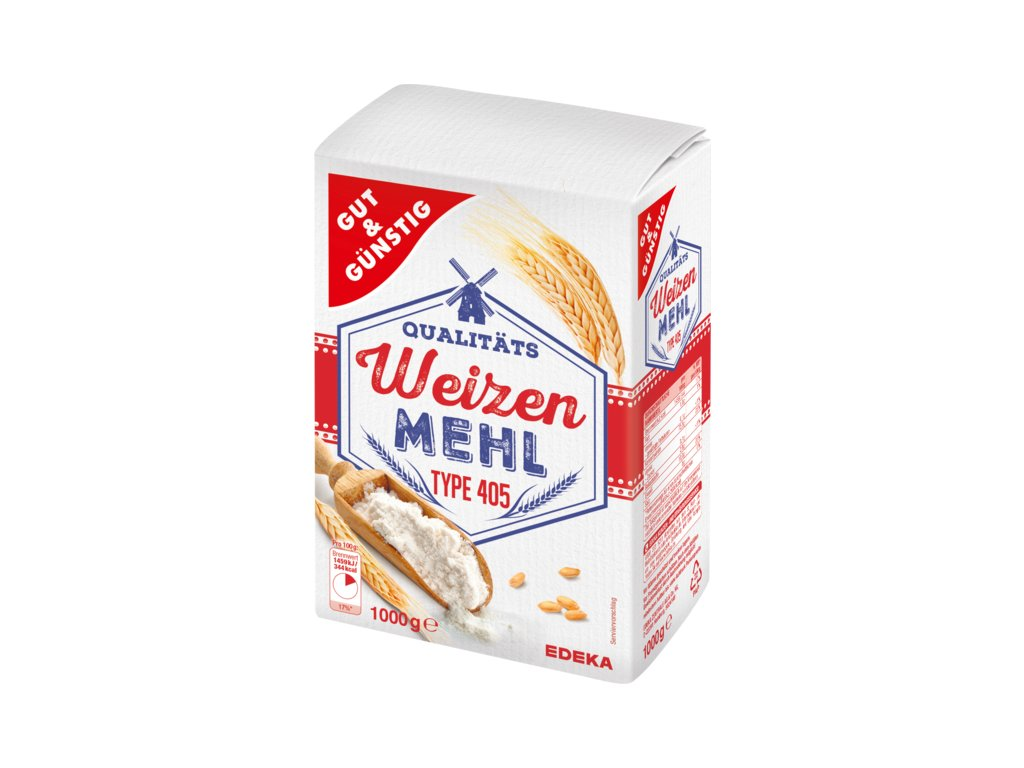 G&G pšeničná mouka 1000g  - originál z Německa