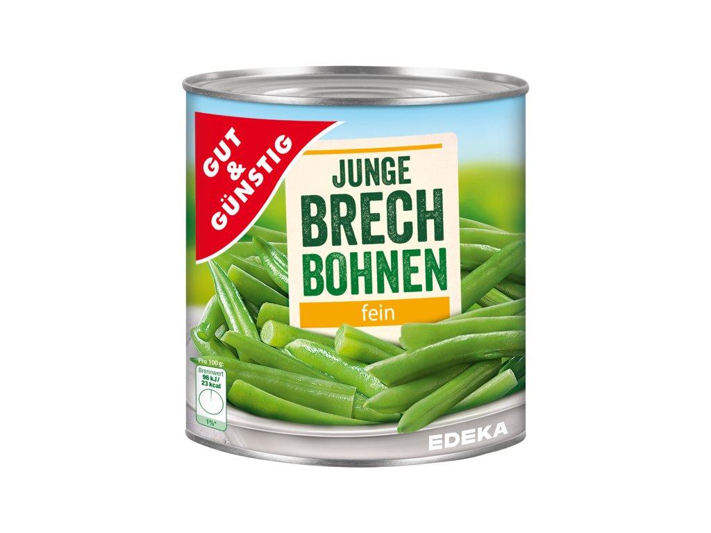G&G Mladé zelené fazolky, jemné 850ml  - originál z Německa
