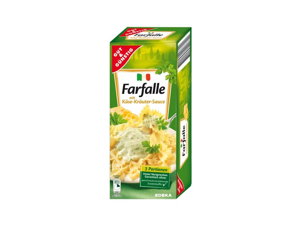 G&G Farfalle se sýrovo-bylinkovou omáčkou 265g  - originál z Německa