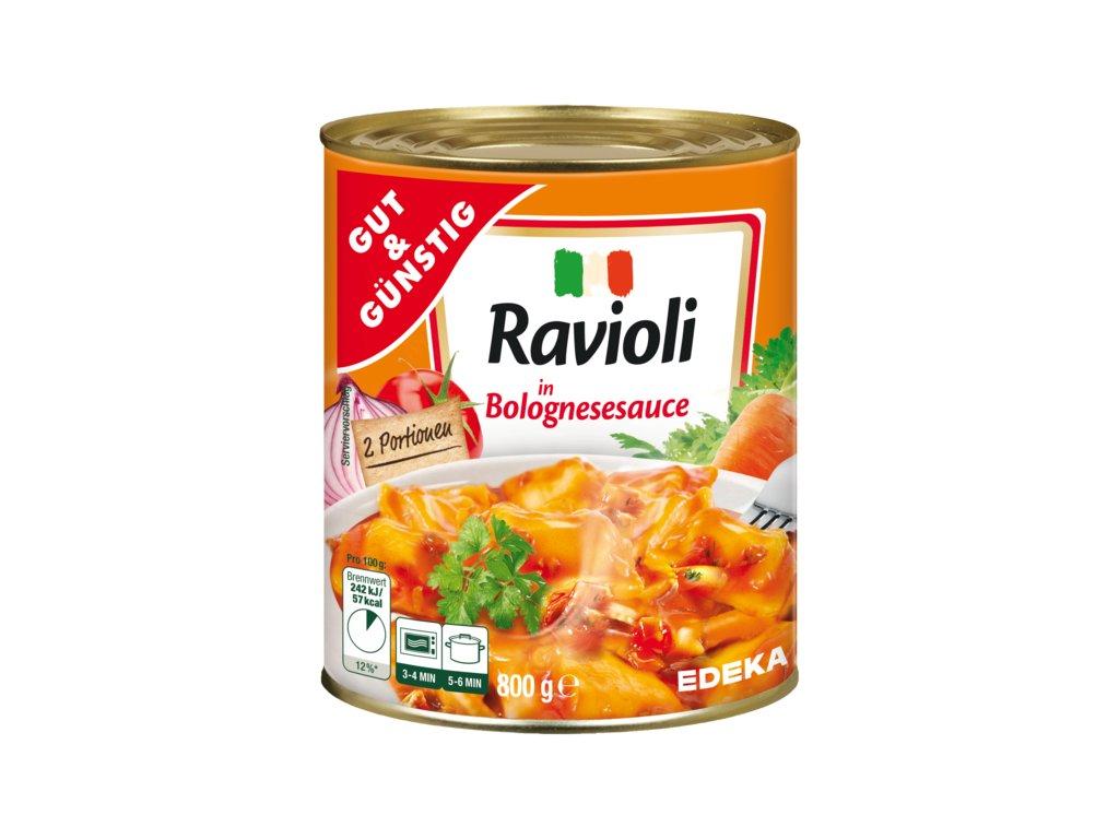 G&G Ravioli v boloňské omáčce 800g  - originál z Německa