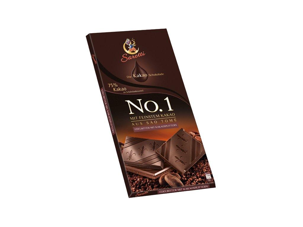 Sarotti No.1 Hořká čokoláda 75% kakaa 100g  - originál z Německa