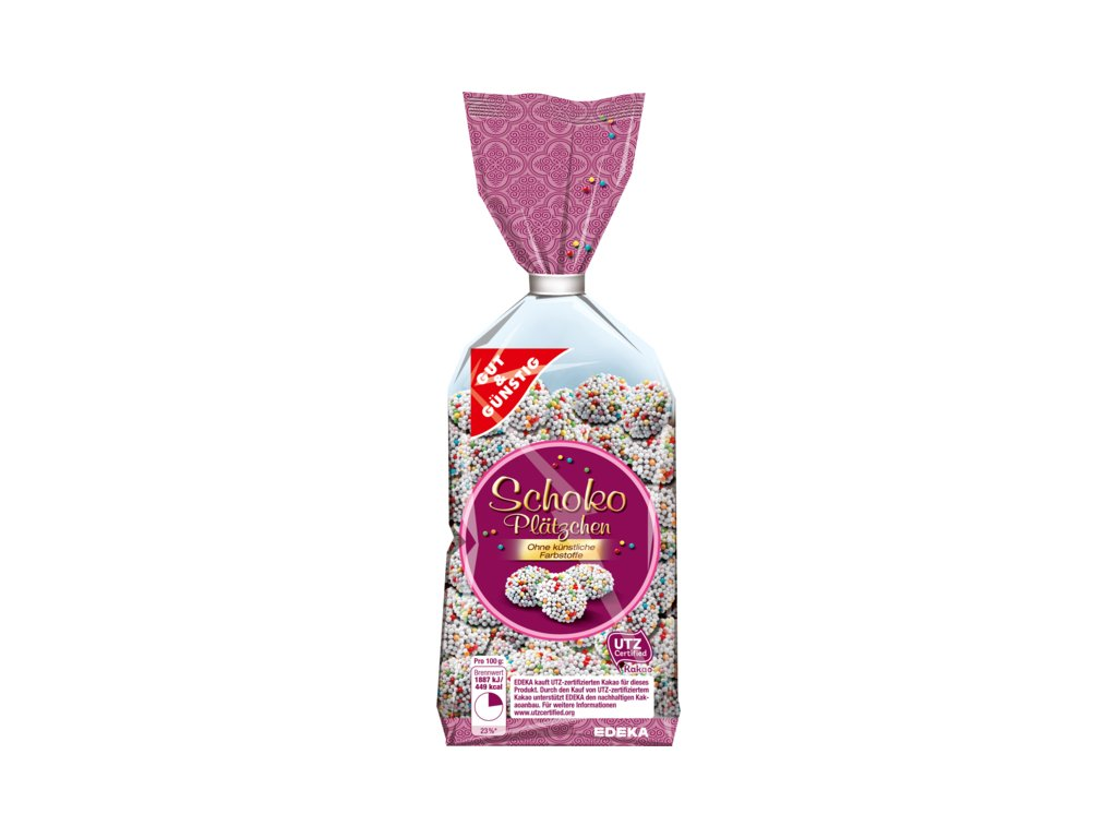 G&G Čokoládové koláčky s barevnými perlami 200g  - originál z Německa