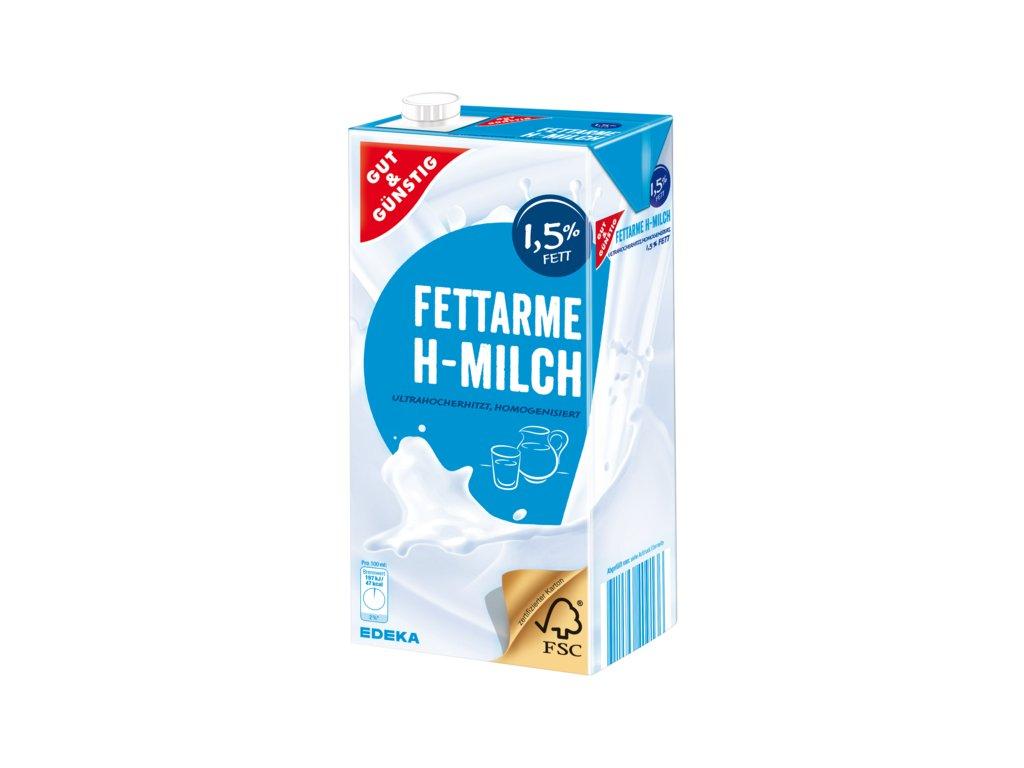 G&G Trvanlivé nízkotučné mléko 1,5% 1L  - originál z Německa