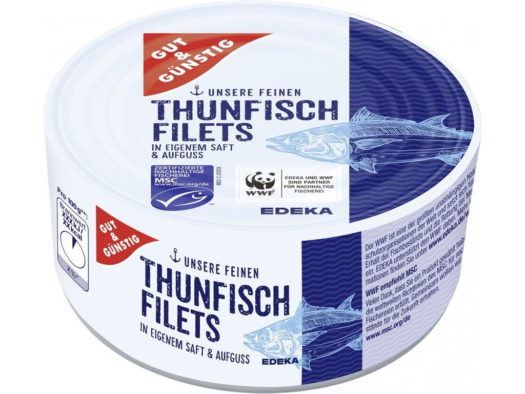 G&G Filety z tuňáka ve vlastní šťávě 195g