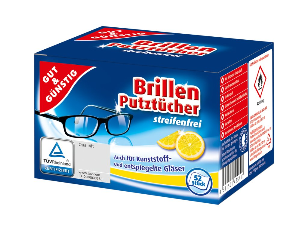 G&G Vlhčené čistící ubrousky na brýle 54 ks  - originál z Německa