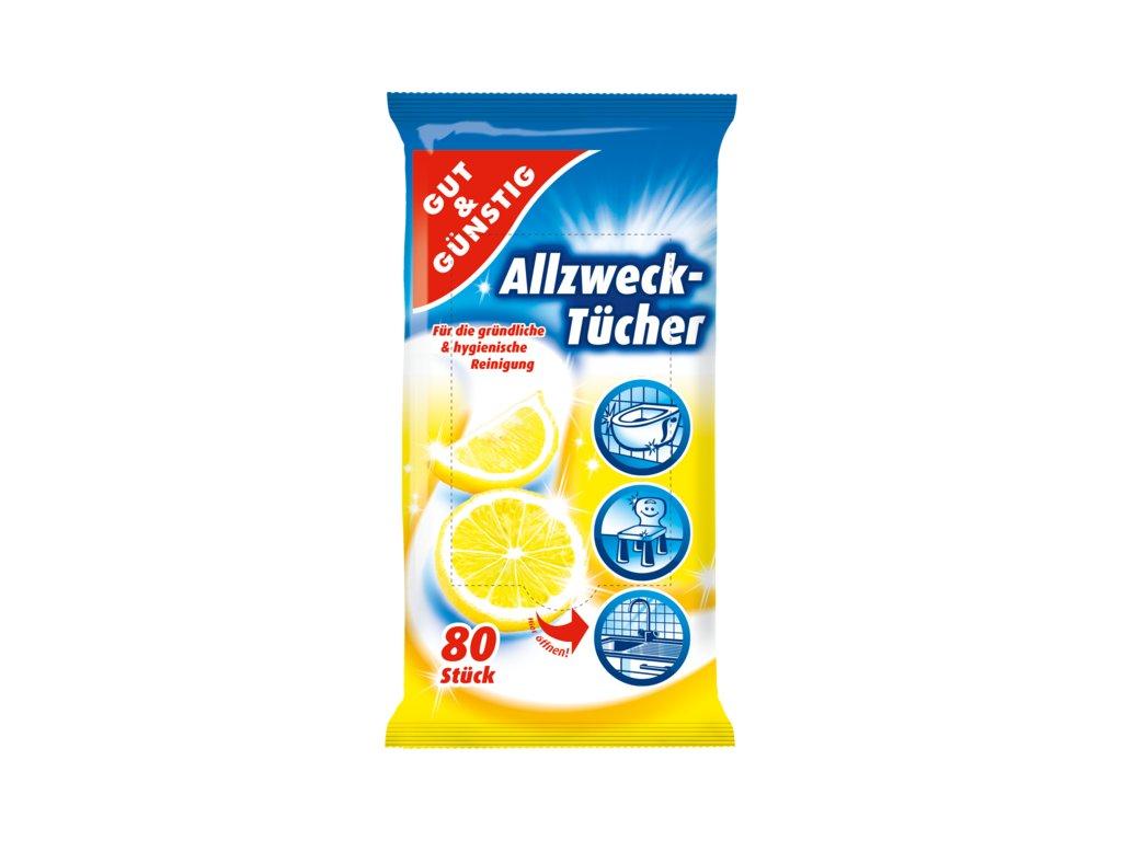 G&G Antibakteriální vlhčené ubrousky 80ks