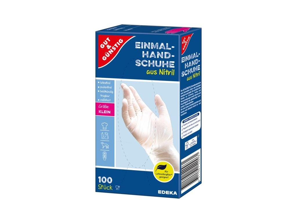 G&G Jednorázové rukavice nitrilové, velikost S, 100 ks