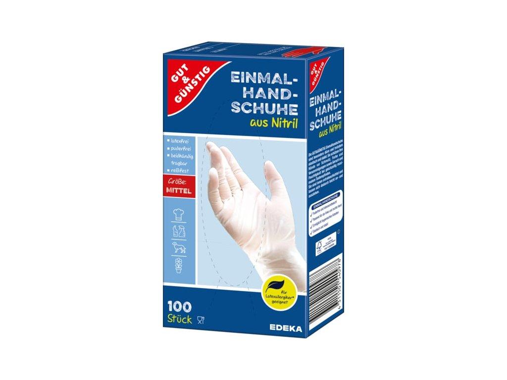 G&G Jednorázové rukavice nitrilové, velikost M, 100 ks