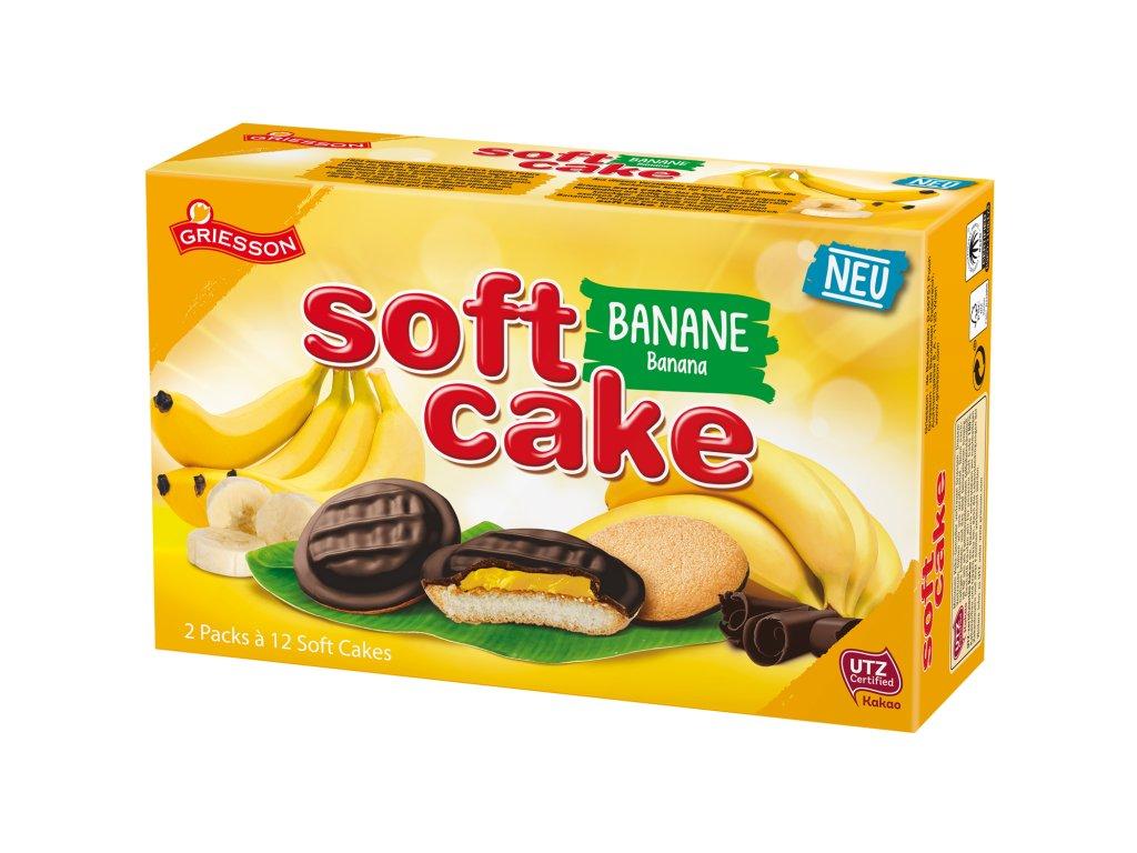 Soft Cake piškoty s čokoládovou polevou a banánovou náplní 300g