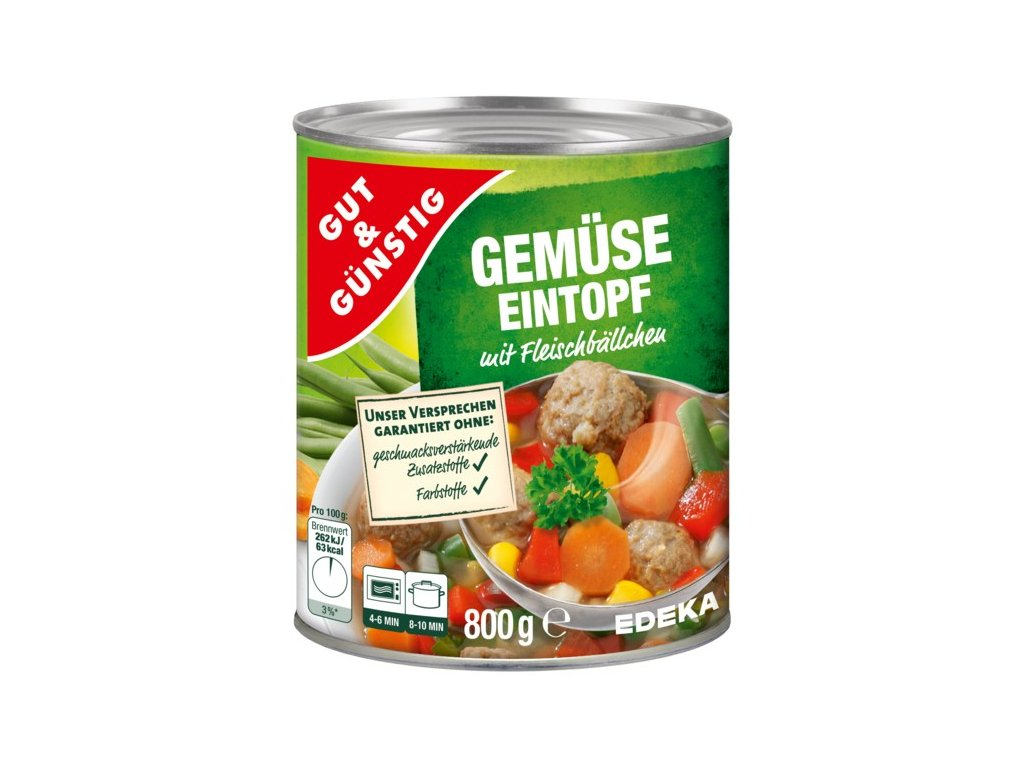 G&G Zeleninový eintopf smasovými kuličkami 800g