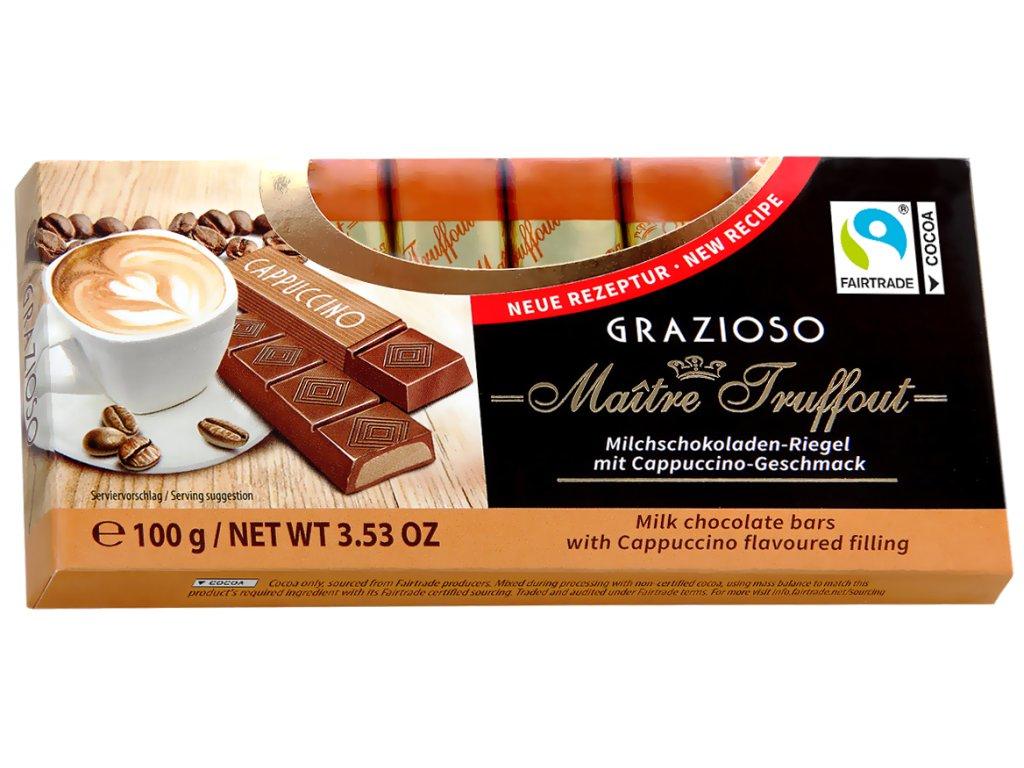 Truffout Mléčná čokoláda s cappuccinem 8 ks, 100g