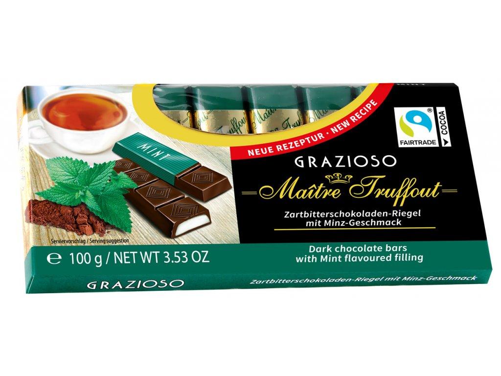 Truffout Grazioso Mléčná čokoláda s mátovou náplní 8 ks, 100g